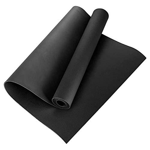 Libartly Esterilla De Yoga Duradera De 4 Mm Esterilla De Yoga De Una Cara con Relieve para Fitness Esterilla De Protección del Medio Ambiente Esterilla De Baile - Negro