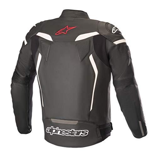 Alpinestars Men's GP Plus R V2 Leather Motorcycle Jacket, Black/Red, 48