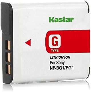 Kastar NP-BG1 Battery Replacement for Sony Cyber-Shot DSC-H10 DSC-HX5 DSC-HX7 DSC-HX9 DSC-HX10 DSC-N1 DSC-N2 DSC-T100 DSC-T20 DSC-W100 DSC-W200 DSC-W300 DSC-W70 DSC-W80 DSC-W90 DSC-WX1 DSC-WX10