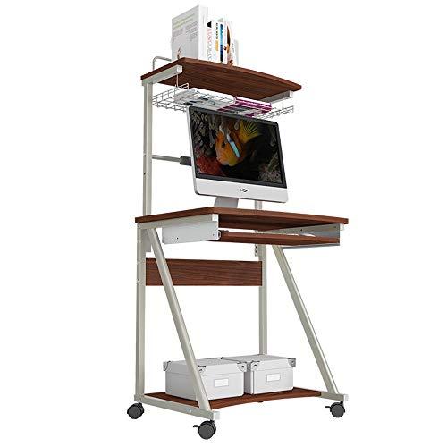 Home&Selected Furniture/Desktop Computer Desk 2 lagen beweegbaar Desk Child Study bureau met riemschijf 70 x 50 x 143 cm (kleur: C)