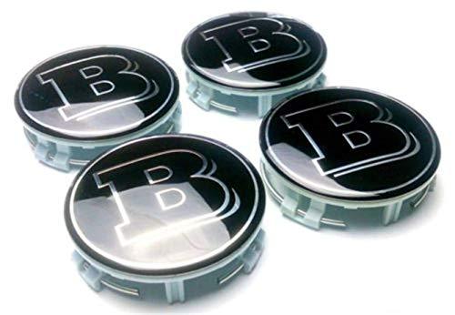 WYJBD 4X aleación del Centro de Rueda Caps 75 mm Placas Negro BRBS Hub Emblema