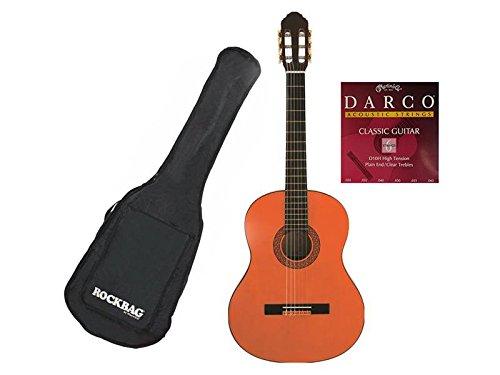 Eko CS10CS 4/4Klassische Gitarre von Studio mit Tasche und Saiten Martin D10H