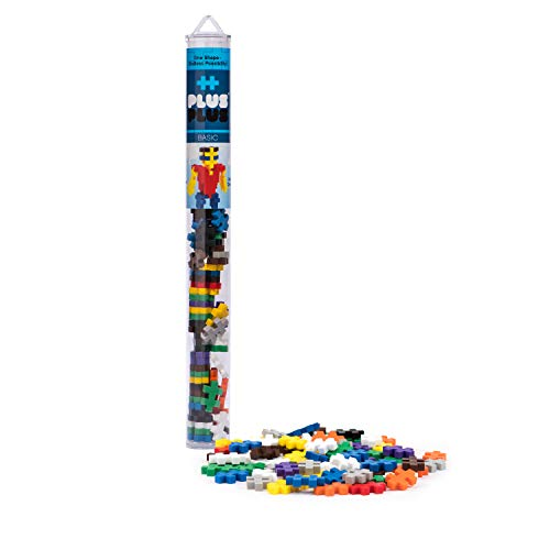 PLUS PLUS – Open Play Tube – 70 Piece Basic Color Mix – Construction Building STEM | STEAM Toy, Interlocking Mini Puzzle Blocks for Kids