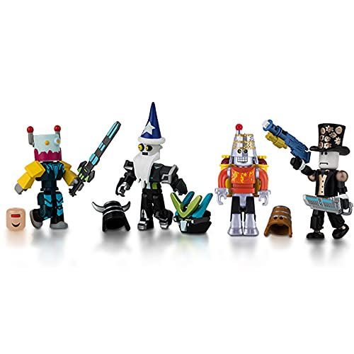Roblox Action Collection - Robot Riot Four Figure Pack [Includes Exclusive Virtual Item]