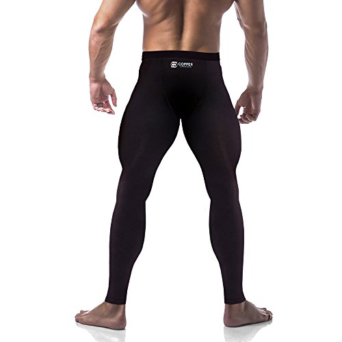 Copper Compression Mens Leggings Pants Best Tights Copper Legging Active Fit