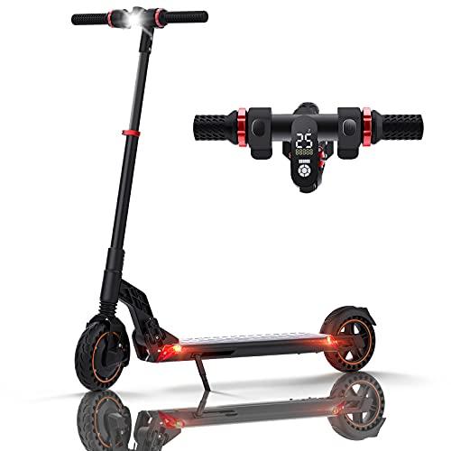 HUABANCHE Elektroscooter 25 km Lange Reichweite Elektro Scooter 350W City E Roller Elektroroller Faltbarer E Tretroller Elektro Roller, 8\'\' Wabenreifen E-Scooter Erwachsene, S1 Plus