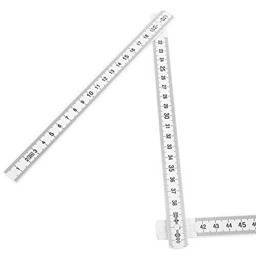Herramienta de medición, 2 piezas de diseño de bloqueo, regla de medición portátil, para trabajos de carpintería, medición subacuática, colocación de azulejos, proyectos de bricolaje