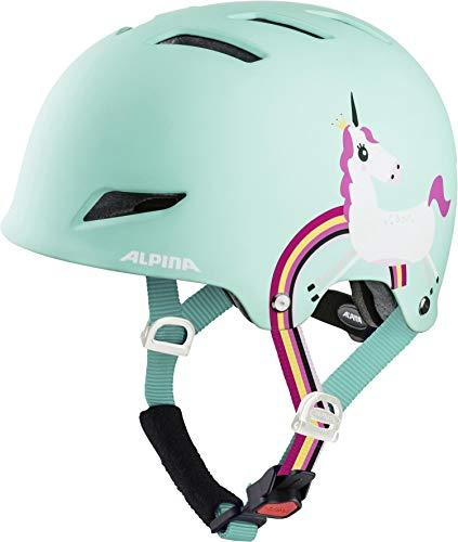 ALPINA PARK JR. Fahrradhelm, Kinder, mint unicorn, 51-55