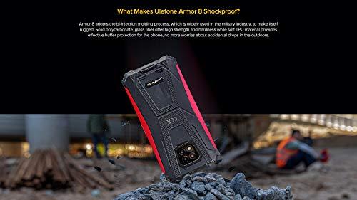 Ulefone Armor 8 Smartphone Incassable Android 10, 6.1'' HD+ Robuste Téléphone Portable Debloqué Etanche, Helio P60 4 Go + 64 Go, Triple Caméra Arrière 16MP, GPS NFC, Déverrouillage du Visage Noir