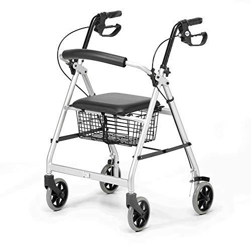 Patterson Medical Andador ligero de aluminio con ruedas, color Gris