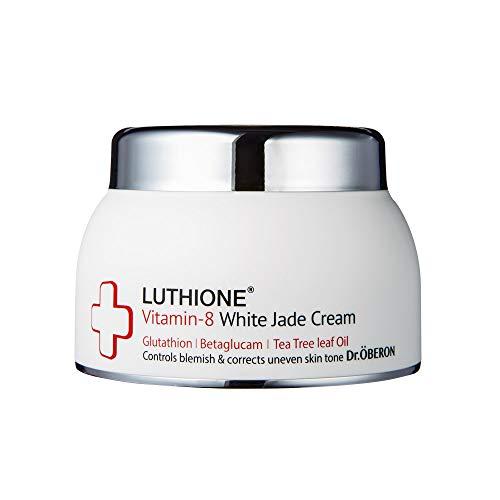 [Luthione]Vitamin-8 White Jade Crème - Feuchtigkeitsspendende Feuchtigkeitscrème & Aufhellung-Boost Gesichtscrème mit 8 Vitaminen und Glutathion von koreanische Hautpflege