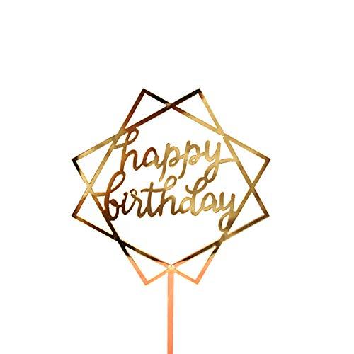 MIJI Taart Topper - Dubbele Zijde 400g Flash Card Verjaardag Bruiloft Taart Decoratie Geschikt voor Verjaardag of Bruiloft Party 04#
