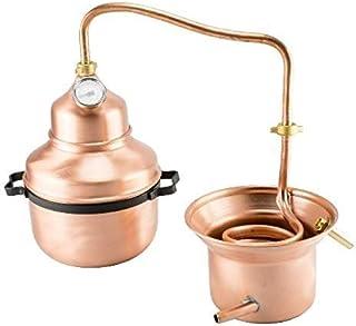 Distillatore Alambicco in Rame 3 Litri Modello a Serpentina e con Manici