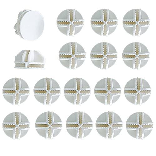 Sctmda Connettore in Plastica Bianca 30 Pezzi a Forma di Cubo di Connettori per Scaffali e Armadietto Modulare Organizer Closet Chiusura a Fibbia Clip Installare e Combinare Semplice Armadio
