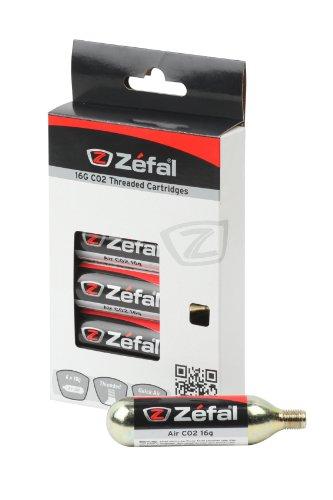 ZEFAL CO2 16g Blíster 6 Cartuchos, Unisex, Plata