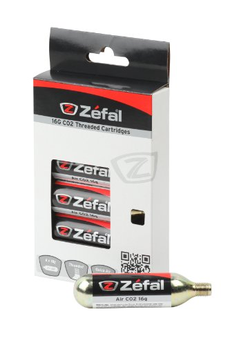 ZEFAL 16G Cartouches CO2 16gr filetées universelles pour vélo (Lot de 6) Mixte Adulte, Or