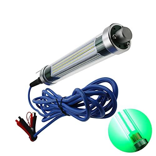 HRTX Luces de Pesca Led Bajo El Agua, Luces de Pesca Verdes para la Noche, IP68 a Prueba de Agua, con Clip, Cable de 6 M Apto para Ríos, Lagos y Océanos,Green Light