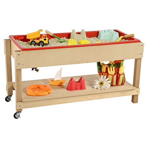 Wood Designs - AAWD11810 Sand and Water Table with Lid/Shelf
