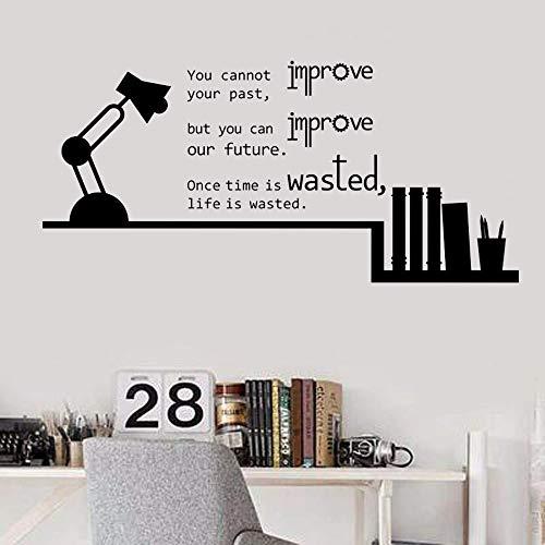 Lámpara de escritorio libro silueta etiqueta de la pared pintura arte fresco traducción dormitorio aula refranes famosos