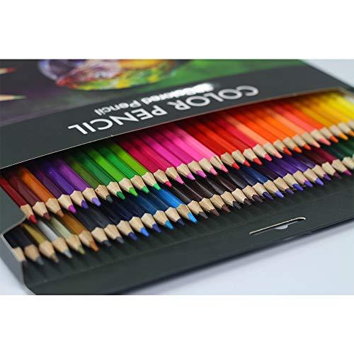 Matite Colorate Oleosa,36 Matite Colorate Professionali,Adatto ad Adulti e Bambini per Disegnare Con Matite Colorate