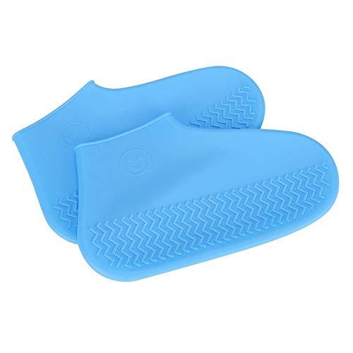 CHICIRIS Funda para Zapatos, Funda para Zapatos Reutilizable, Azul Antideslizante Plegable Impermeable Senderismo Seguro para Acampar Actividades al Aire Libre Pesca(Blue, Large)