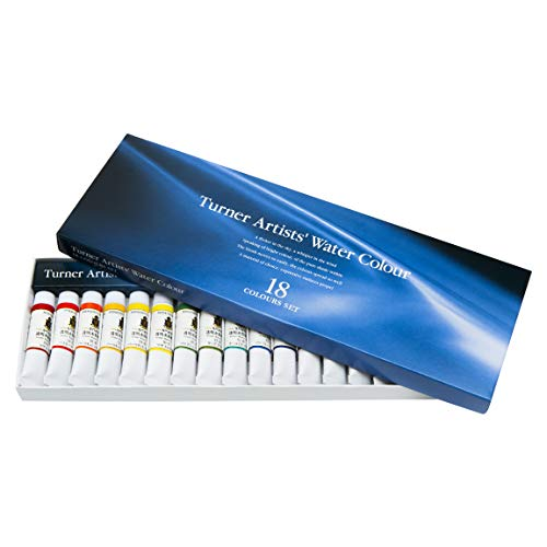 Turner Colour Works Paint Set Professional Artists' High Pigment Concentrated Watercolor Paint Set [Set of 18] 5ml Tubes - Assorted Colors