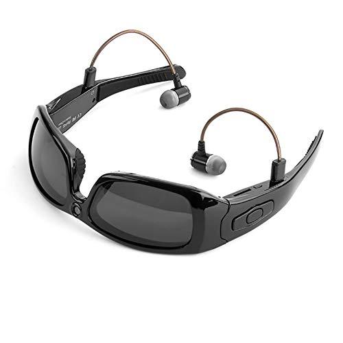 C- Gafas de Sol Bluetooth Cámara Auriculares Full HD 1080P Grabadora de Video Cámara Reproductor de MP3, para Gafas de cámara Mini al Aire Libre, Gran Regalo para su Familia y Amigos