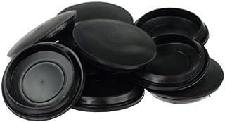 30mm //80mm schwarze runde Form Einzelseite geschlossen Blank Gummi Verdrahtungs Draht Grommets Dichtungen Schutz Ring Heimwerker Packung von 20//4 Platinen/öffnung 30mm