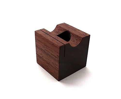 MokuPro 木製ペンスタンド 無垢材(ブラックウォールナット材)【 ONE-PEN-STAND 】 1本用ペン・メモ・カードスタンド 全3種類