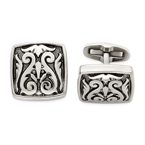 Photo of ICE CARATS Edward Mirell Titanium Casted Cufflinks Man Cuff Link Fashion Jewellery for Dad Mens Gifts for Him