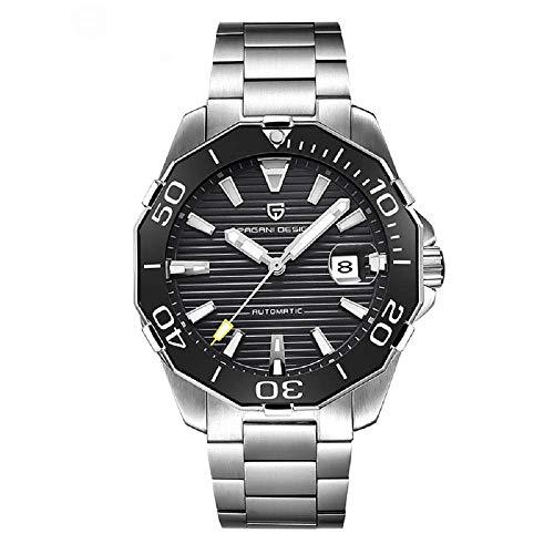 Pagani Design Armband-Uhr Männer Mechanische Marke Business Sport Automatikuhren Schwarz