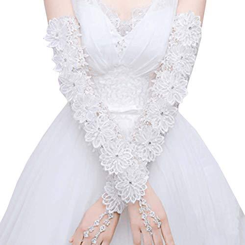 Gants de mariée mariage robe de soirée dentelle longs gants A09