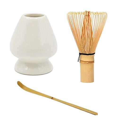 Hete-supply Japanse Matcha Thee Klop Set Met Keramische Stand Houder voor Bamboe Matcha Chasen, Beste Japanse Matcha Theeset Accessoires Bamboe Klop Schep en Houder