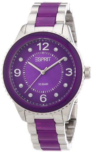 Esprit Damen-Armbanduhr marin Lucent Analog Quarz Verschiedene Materialien ES106192006