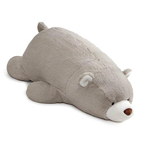 GUND Snuffles Laying Down Stuffed Plush Teddy Bear, Grey, 27'