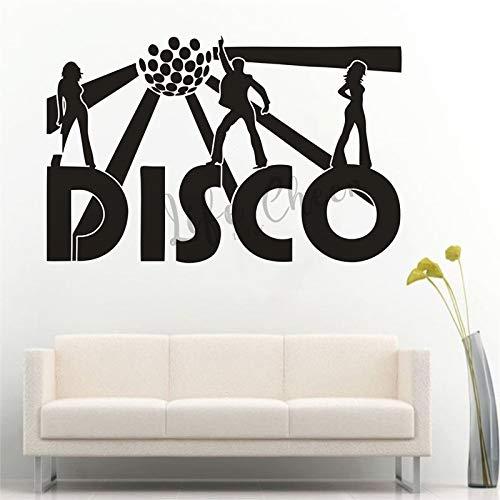ASFGA Coole Coole Bungalow Flash Wandtattoo Musik Bar Dekoration Nachtclub Wandkunst Aufkleber tanzen Mann Frau Vinyl Wanddekoration Wohnzimmer Schlafzimmer 42x27cm