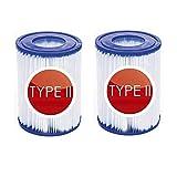 YYSY Cartuchos de filtro de repuesto para bomba de filtro Bestway 58094, cartuchos de filtro para piscina Bestway Swimming Pool tamaño II, filtros de limpieza de piscina(2 unidades)