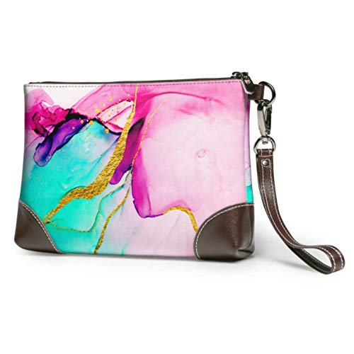 Leather clutch Soft Waterproof Clutch Purse Leather History And Secrets Of The Earth Large Womens Wallet With Zipper For Women Girls