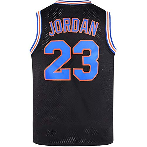 EWSDF Camiseta de Baloncesto Jordans Retro Chaleco de Gimnasio de Secado rápido Deportes NO.23 S-XXL Negro/Blanco XXL A
