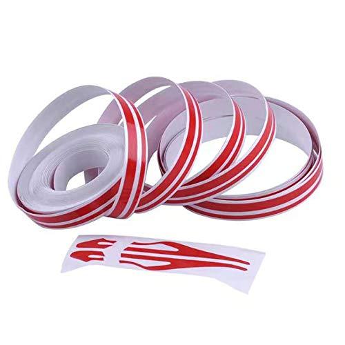 KEQKEV Red Pinstripe Tape Car Body Side Stripe Decal Waistline Sticker Auto Pinstripe Tape for Cars