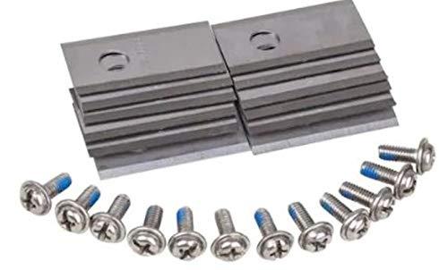 WORX WA0190, passend für Landroid Ersatzschneider, 12-teiliges Klingen-Set mit Schrauben, F, silber/grau