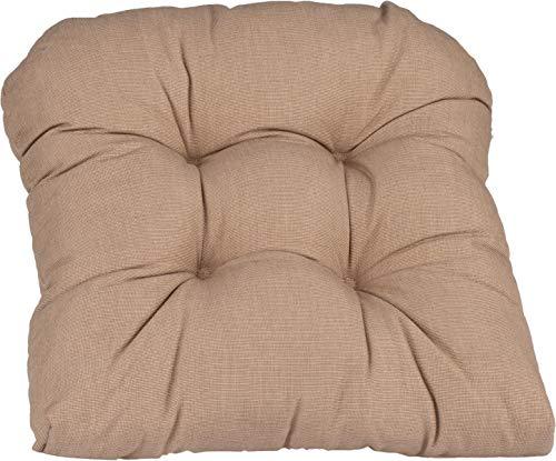 Beo Sitzkissen Stuhlkissen Model Sarah halbrund ca. 38x42cm in Dunkelbeige mit Reissverschluss