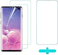 ESR Screen Protector [TPU Film] Compatible with Samsung Galaxy S10 Plus, 2-Pack [Plus 1 Extra for Practice], Full-Coverage Liquid Skin Easy Installation Kit for Galaxy S10 Plus