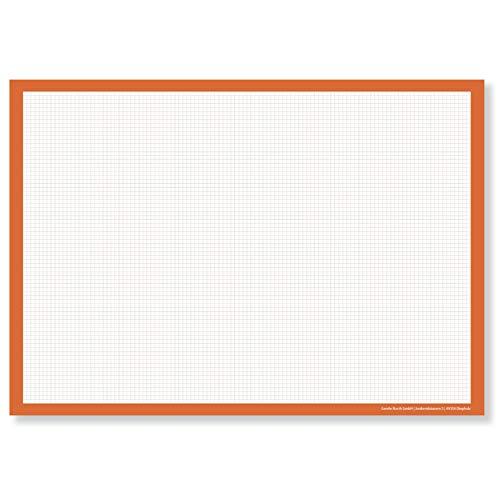 Vade de escritorio a cuadros (DIN A2 grande) – Bloc de dibujo para arrancar – Base de cuadros para escritorio en la oficina – Vade de mesa blanco – Bloc de dibujo técnico
