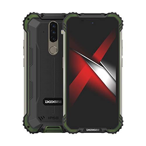 S58 Pro Teléfono Celular 5180mAh Batería Helio P22 16MP Cámara Triple 5.71 Pulgadas Pantalla 6GB RAM 64GB ROM Android 10 Cell (Verde)