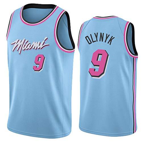 KJX Camiseta de baloncesto Miami para hombre, temporada 9# Olynyk edición de la ciudad 2020/2021, chaleco de gimnasio, camiseta deportiva de cuello redondo (S-XXL) L