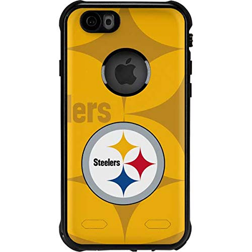 Skinit Waterproof Phone Case Compatible with iPhone 6/6s - Officially Licensed NFL Pittsburgh Steelers Double Vision Design