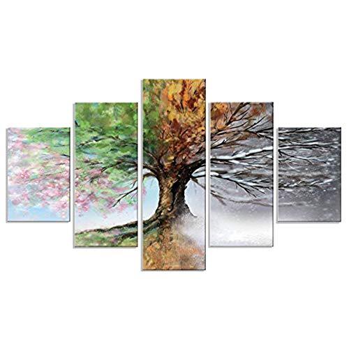 Lupia Cuadro multipanel Vogue, Madera, Multicolor, Dimensiones: 66 x 115 x 0,8 cm