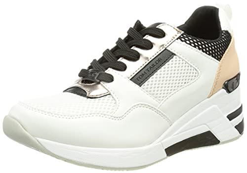 TOM TAILOR Damen 1191508 Sneaker, White, 39 EU