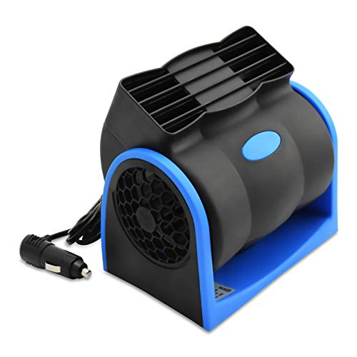 12V Car Fan, YOUGUOM Auto Vehicle RV Fan Powerful Ventilation Electric Car Fans with Cigarette Lighter Plug for Car Vehicle SUV